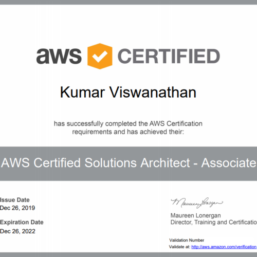 Kumar Vish Certified
