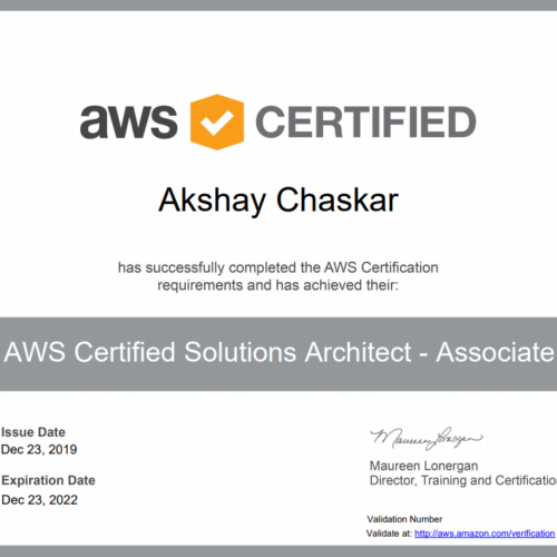 akshay chaskar aws certifed