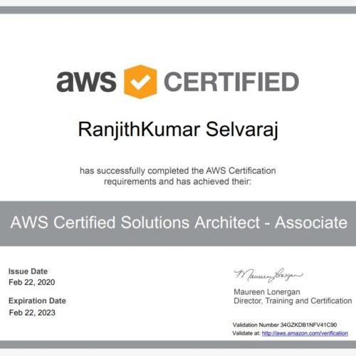 Ranjit Kumar AWS Training WebMagic Informatica